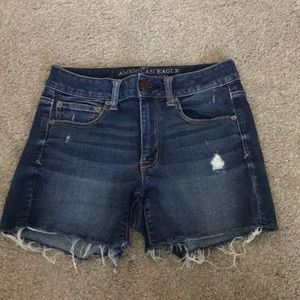 American Eagle high rise shortie shorts